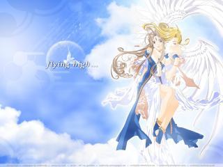 обои Ah My Goddess Belldandy and angel фото