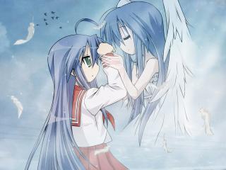 обои Ангел и девочка фото