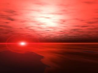 обои Красный закат фото