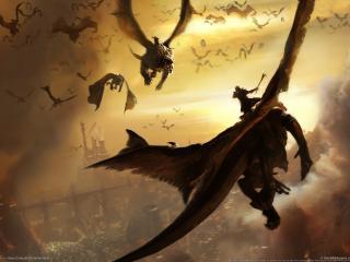 обои Lair драконы фото