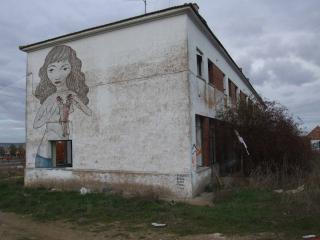 обои Девушка на стене фото