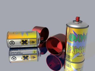 обои Баллончики для графити фото