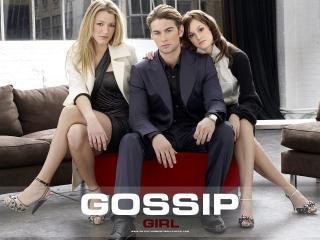 обои Gossip Girl 2 girl and man фото