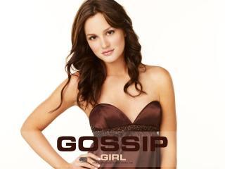 обои Gossip Girl in bronw dress фото