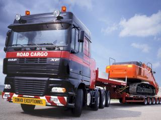 обои DAF road cargo фото