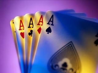 обои Poker пять тузов фото