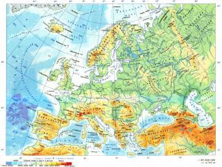 обои Карта Европы фото