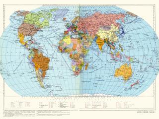 обои для рабочего стола: Политическая карта мира