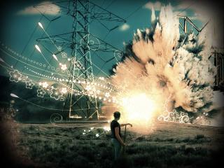 обои Взрыв на электростанции фото