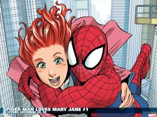 обои Spider man loves mary jane фото