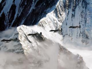 обои Самолёты в горах фото