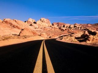 обои A Road Divided, Nevada фото