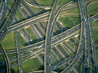 обои Crossroads in Big City фото