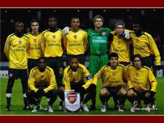 обои Arsenal перед матчем фото