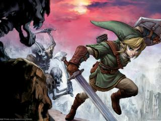 обои The legend of zelda twilight princess в бегах фото