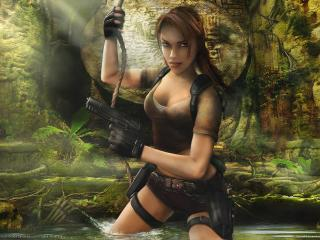 обои Tomb raider legend в лесу фото