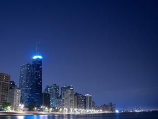 обои Яркий ночной город фото