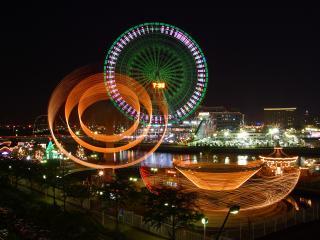 обои Очень красивый ночной город фото