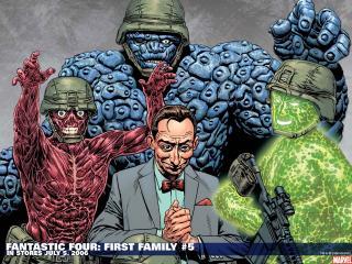 обои Fantastic four first family фото