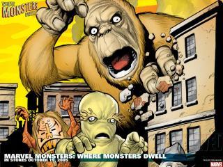обои Marvel monsters where monsters dwell фото