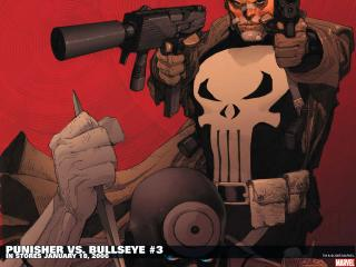 обои Punisher vs. bullseye in january фото