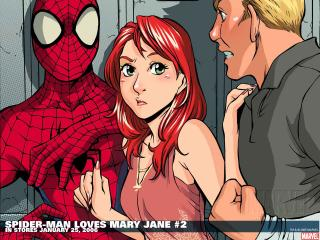обои Spider man loves mary jane two фото