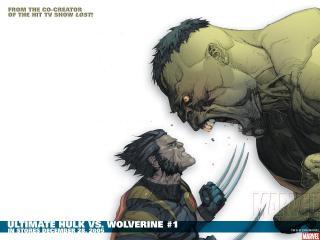 обои Ultimate hulk vs. wolverine фото