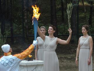 обои Олимпийский огонь фото