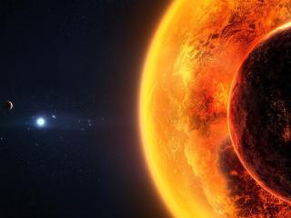 обои Вид на солнце фото