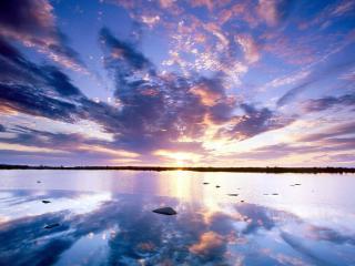 обои Отражение восхода фото