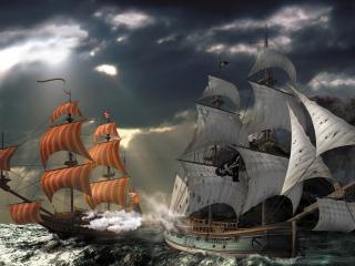 обои Корсары на кораблях фото
