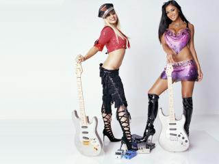 обои Pussycat Dolls с гитарами фото