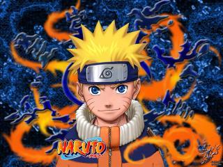обои Uzumaki Naruto in blue фото