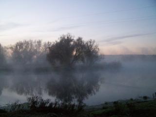 обои для рабочего стола: Туман на реке
