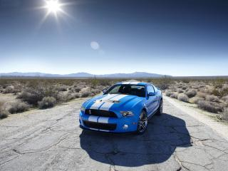 обои Shelby GT500 Mustang Blue color фото