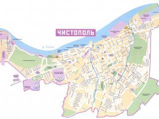 обои Карта г. Чистополь фото