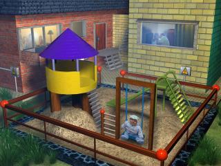 обои Детская площадка фото