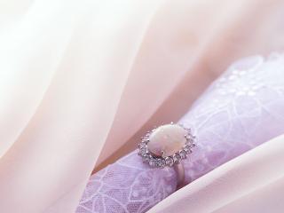 обои Кольцо с белым камнем фото