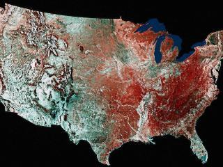 обои Карта США - ландшафт фото