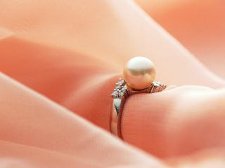 обои Кольцо с жемчугом и бриллиантами фото