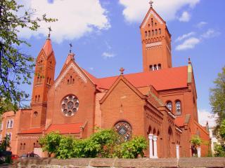 обои Фасад церкви из Минска фото