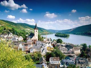 обои Германия река Ренн фото
