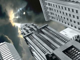 обои Трёхмерные здания фото