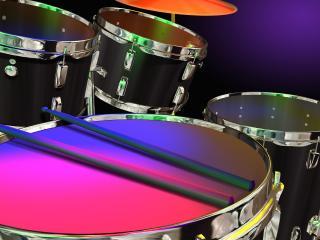 обои 5 барабанов и 2 палочки фото