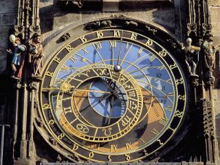 обои Астрономические часы в Праге фото