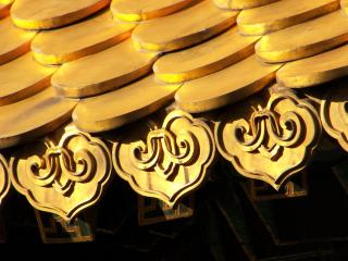 обои Золотая китайская черепица фото