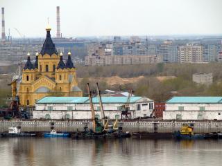 обои Церковь в промышленном секторе Нижнего Новгорода фото