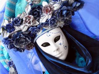 обои Белая карнавальная маска фото
