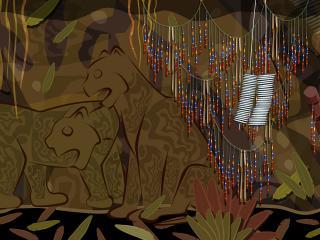 обои В африканской пещере фото
