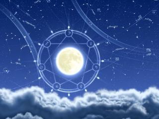 обои Астрологическая карта звёздного неба фото